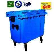 Contenedor para residuos 4 ruedas 660 L azul