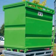 Contenedor con fondo abatible 750 litros pintado verde