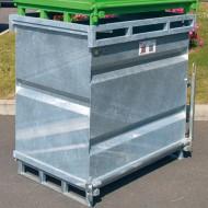 Contenedor con fondo abatible 750 litros galvanizado