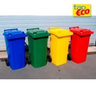 Contenedor para residuos 2 ruedas verde 240 L