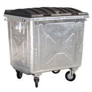 Contenedor para residuos 4 ruedas 1100 litros con tapa de plástico