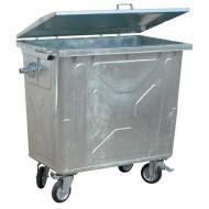 Contenedor para residuos 4 ruedas 770 litros con tapa de acero
