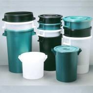 Bac plastique rond 50 Litres Vert