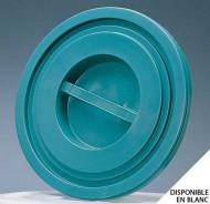 Couvercle bac plastique rond 75 Litres Vert