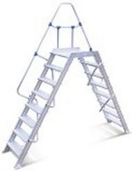 Escalera pasarela 4 escalones 60°