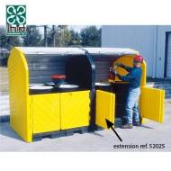 Caseta de almacenamiento de PEAD para 4 bidones - modulo de extensión