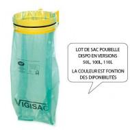 Bolsas de basura negras 50 litros -  Lote de 4 rollos de 25 bolsas