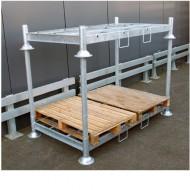 Manurack permettant de stocker 2 palettes 1200x800mm