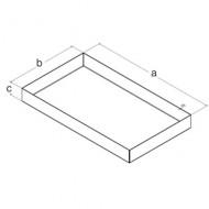 Cubeta colectora galvanizada 115 litros para mesas de trabajo