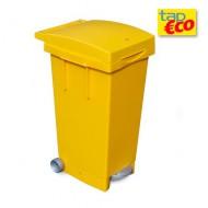 Contenedor 80 litros amarillo