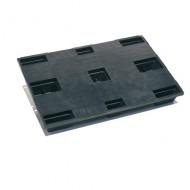 Palette Plastique plateau plein avec rebords intermittents, 9 plots 1200 x 800