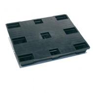 Palette Plastique Plateau plein avec rebords 9 plots 1200x1000