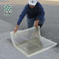 Placa de obturación cuadrada transparente 1120 mm²