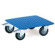 Plataforma lisa de acero con ruedas