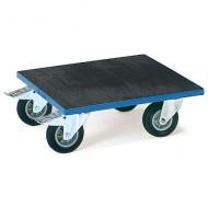 Plataforma lisa de caucho con ruedas