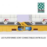 Conector para plataforma y cubeta ferroviaria