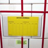 Porte étiquette accroche en fil 210x155 mm A5