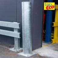 Poste de protección con extremidad redondeada galvanizada en caliente