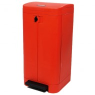 Papelera con pedal roja 100 litros