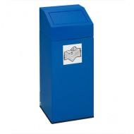 Basura de chapa 45 litros azul