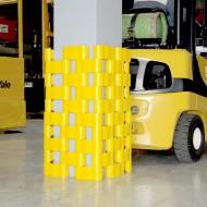 Protección de polietileno para poste - Medidas: 350x350 mm