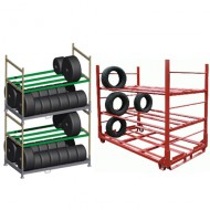 Estanterías y contenedores específicos para neumáticos