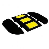 Limitador de velocidad de goma para zonas de paso medio - Extremidad izquierda