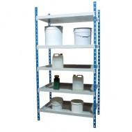 Estantería con estantes colectores, elemento de base