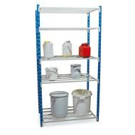 Estantería con estantes de tubos, elemento de base