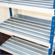 Estante adicional para estanterías con estantes de tubos y colectores
