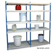 Estantería con estantes de tubos, elemento siguiente