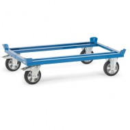 Soporte con ruedas para paleta con banda elástica confortable 1210x1010 mm