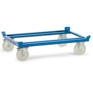 Soporte con ruedas para paletas, ruedas de poliamida 1210x1010 mm
