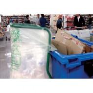Bolsas de basura transparentes 400 L