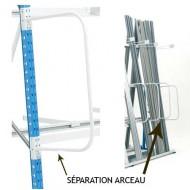 Separación arco extremidad izquierda para estanterías para cargas largas