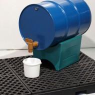 Soporte de PEAD reversible para bidones de 60, 120 y 220 litros