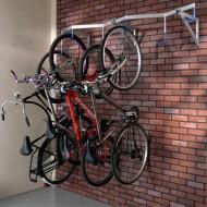 Soporte para bicicletas mural 6 emplazamientos suspendidos