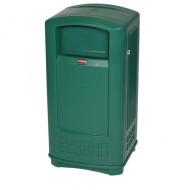 Soporte cerrado para bolsas de basura, verde